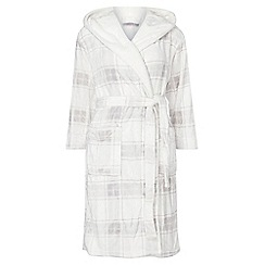 Dorothy Perkins - Petite ivory grey check dressing gown