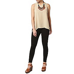 Dorothy Perkins - Petite latte dip back camisole top