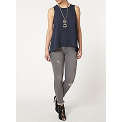Dorothy Perkins - Petite dark navy dip back camisole top