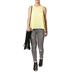 Dorothy Perkins - Petite lemon dip back camisole top