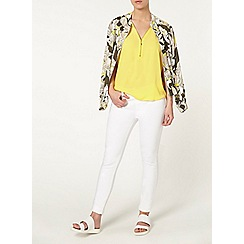 Dorothy Perkins - Petite yellow zip shell top