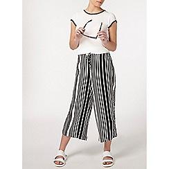 Dorothy Perkins - Petite stripe wide crop trouser