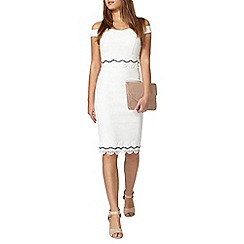 Dorothy Perkins - Petite white bardot dress