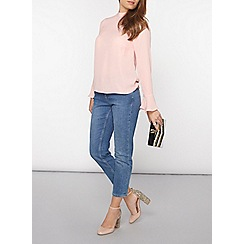 Dorothy Perkins - Petite rose high neck top