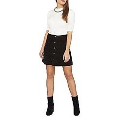 Dorothy Perkins - Petite black cord skirt