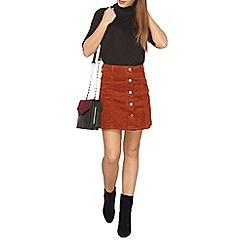 Dorothy Perkins - Petite tan cord skirt