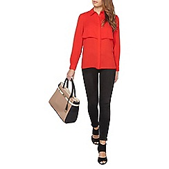 Dorothy Perkins - Petite red double layer shirt
