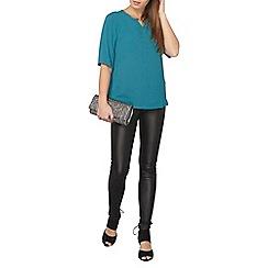 Dorothy Perkins - Petite black coated frankie jeans