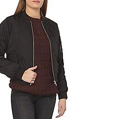 Dorothy Perkins - Petite black ma1 bomber jacket