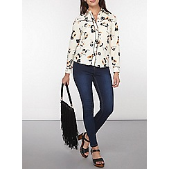 Dorothy Perkins - Petite floral western shirt
