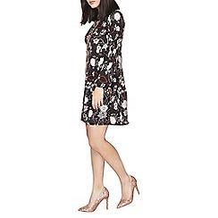Dorothy Perkins - Black floral petite jersey dress