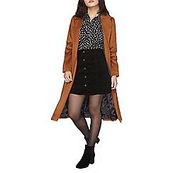 Dorothy Perkins - Petite toffee belted coat