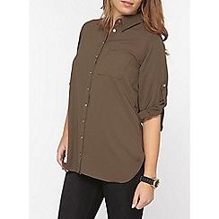 Dorothy Perkins - Petite khaki shirt