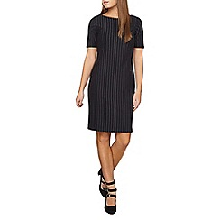 Dorothy Perkins - Petite navy stripe shift dress