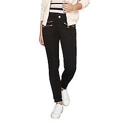 Dorothy Perkins - Petite black zip bailey jeans