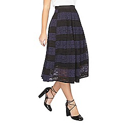 Dorothy Perkins - Petite navy lace prom skirt