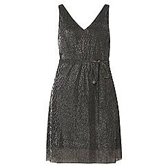 Dorothy Perkins - Petite silver plisse dress