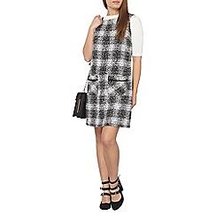 Dorothy Perkins - Petite mono check shift dress
