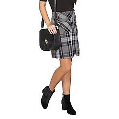 Dorothy Perkins - Petite navy check a line skirt