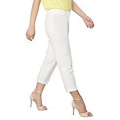 Dorothy Perkins - Petite white ankle grazer trousers