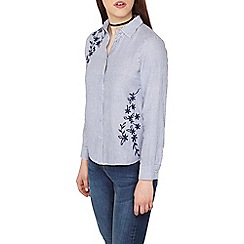 Dorothy Perkins - Petite embroidered floral shirt