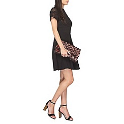 Dorothy Perkins - Petite black lace jersey dress