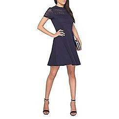 Dorothy Perkins - Navy lace jersey dress