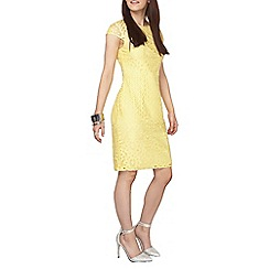 Dorothy Perkins - Petite lemon yellow lace dress
