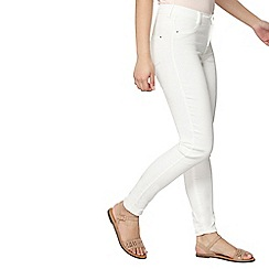 Dorothy Perkins - Petite white frankie jeggings