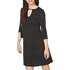 Dorothy Perkins - Petite spot keyhole dress