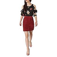 Dorothy Perkins - Petite floral cold shoulder top