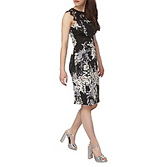 Dorothy Perkins - Petite floral scuba and lace dress