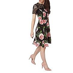 Dorothy Perkins - Petite black floral lace dress
