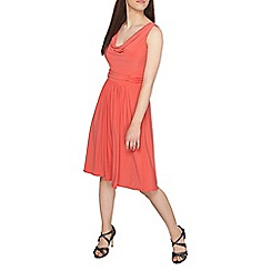 Dorothy Perkins - Petite coral cowl neck dress