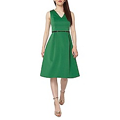 Dorothy Perkins - Petite green belted prom dress