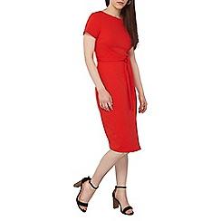 Dorothy Perkins - Petite red wrap pencil dress