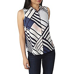 Dorothy Perkins - Petite print sleeveless shirt