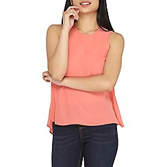 Dorothy Perkins - Petite coral sleeveless shell top