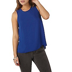 Dorothy Perkins - Petite cobalt blue sleeveless shell top