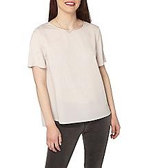 Dorothy Perkins - Petite silver bar back t-shirt