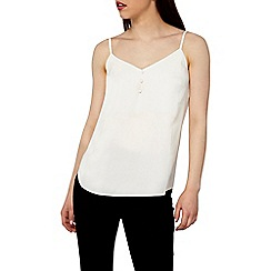 Dorothy Perkins - Petite ivory button front cami top
