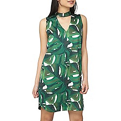 Dorothy Perkins - Petite green leaf shift dress