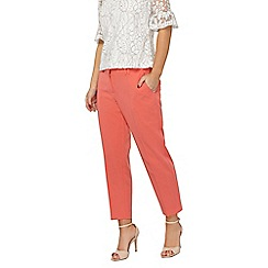 Dorothy Perkins - Petite coral naples ankle grazer trousers