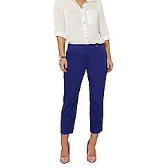 Dorothy Perkins - Petite cobalt cropped cotton sateen trousers