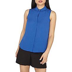 Dorothy Perkins - Petite cobalt sleeveless shirt
