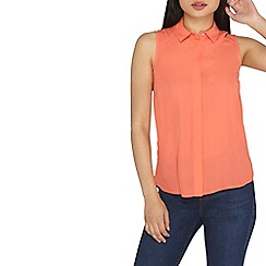 Dorothy Perkins - Petite coral sleeveless shirt