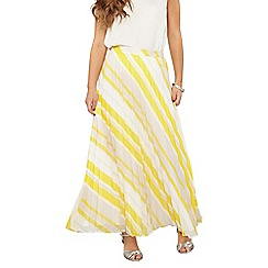 Dorothy Perkins - Petite yellow pleat maxi skirt