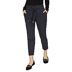 Dorothy Perkins - Petite navy textured trousers