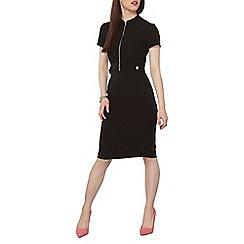 Dorothy Perkins - Petite black zip pencil dress