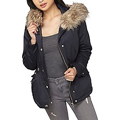 Dorothy Perkins - Petite navy blue parka coat